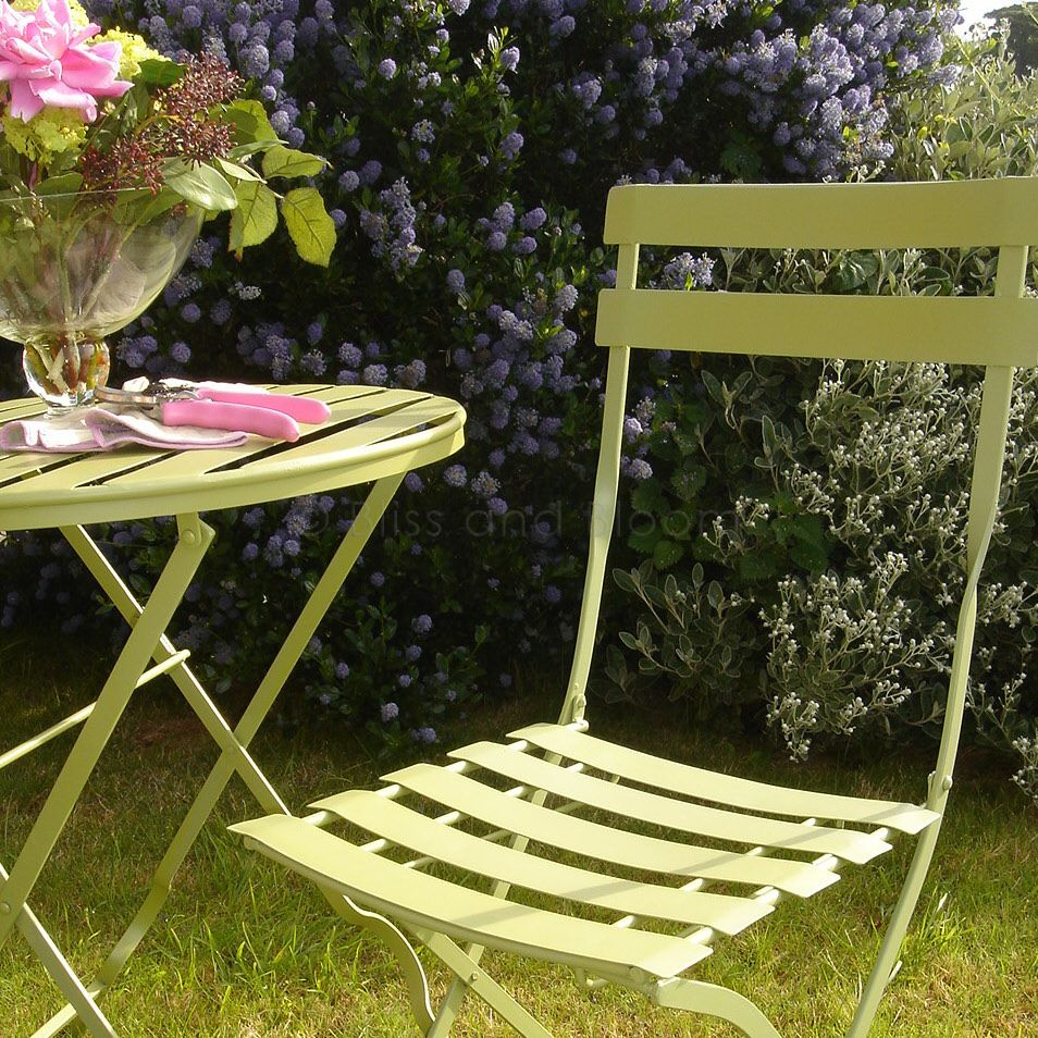 green metal bistro chairs pink bedroom chair uk set seconds bliss and bloom ltd hover to zoom click here for a bigger picture