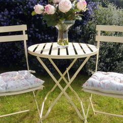 Metal Patio Chair Osaki Massage Review Reduced Cream Bistro Set | Bliss And Bloom Ltd