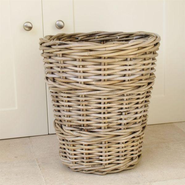 Wicker Wastepaper Bin Basket Bliss And Bloom