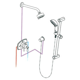 Grohe 117170 Authentic THM Dual Function Shower Kit
