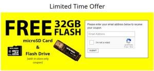 Free Micro Center 32GB microSD USB Flash Drive