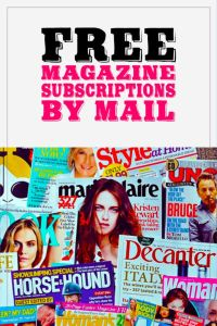 Free Magazine Subscriptions by Mail