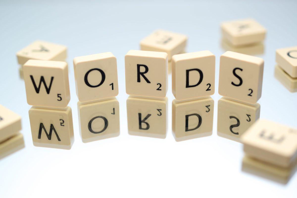 SCRABBLE BLOCKS SPELLING WORDS