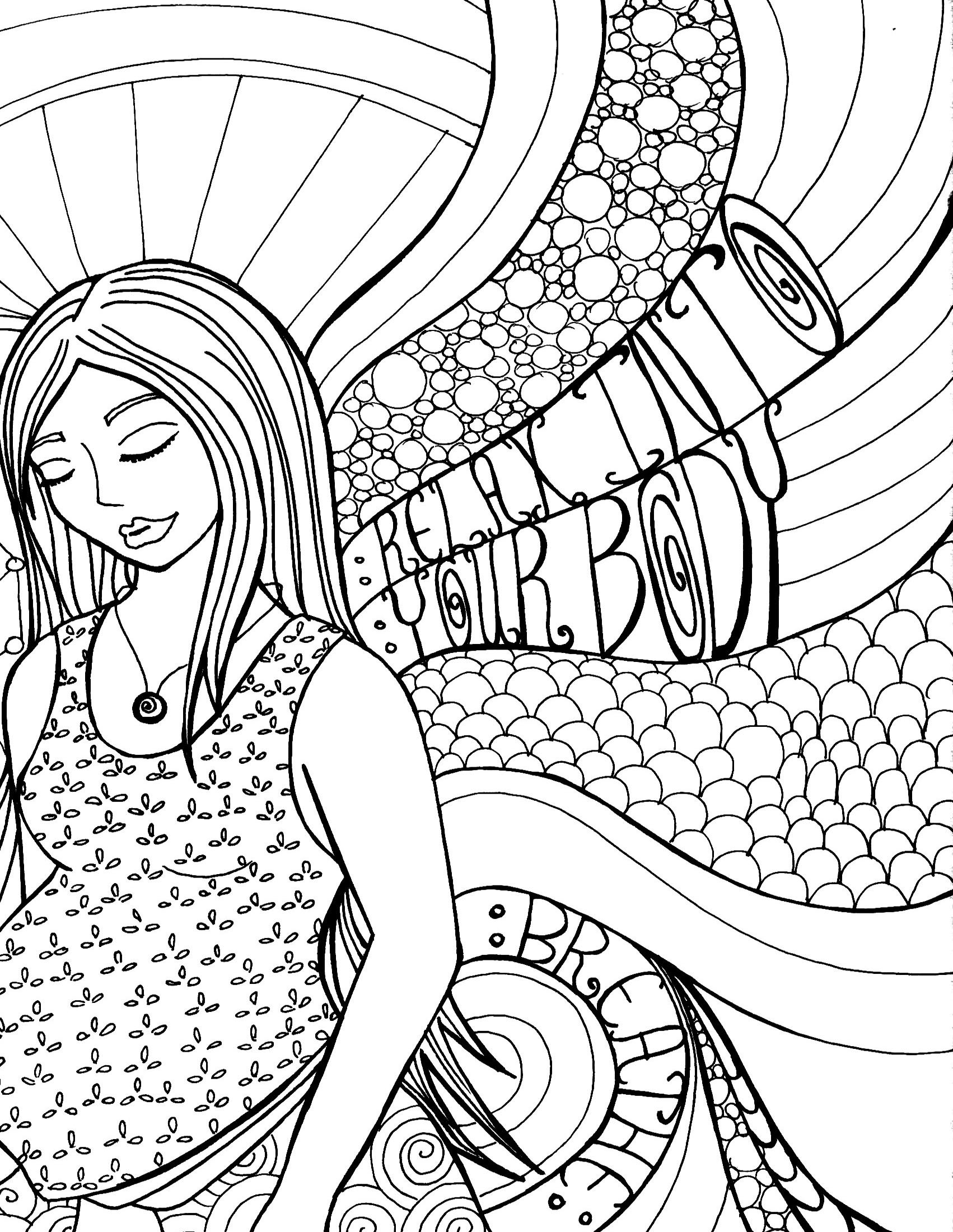 Pregnant Belly Coloring Pages