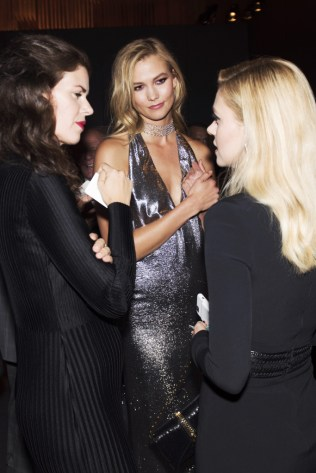 Mandatory Credit: Photo by Nina Westervelt/WWD/REX/Shutterstock (5893825a) Karlie Kloss Tom Ford cocktail party, Spring Summer 2017, New York Fashion Week, USA - 07 Sep 2016