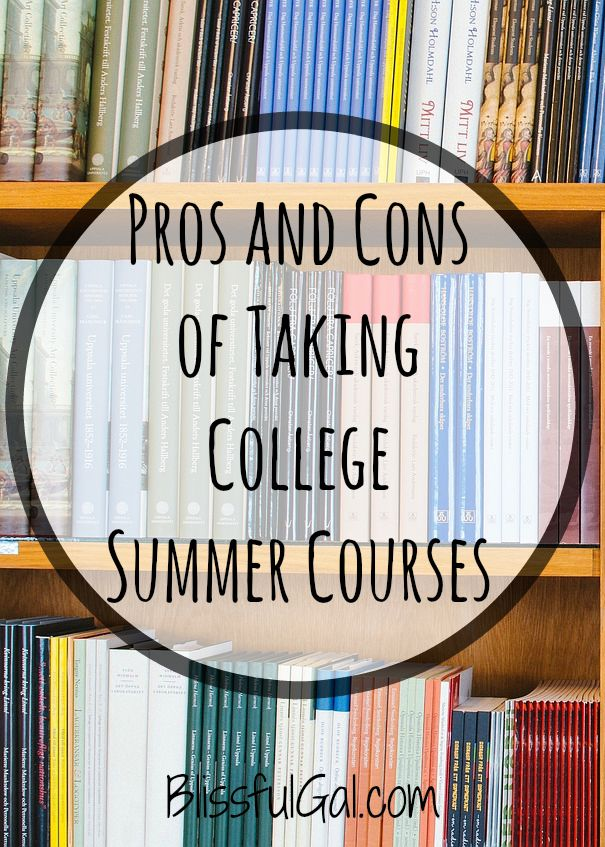 taking summer classes in college