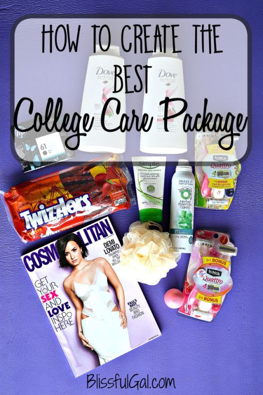 creating a college care package for your loved one off at college shows them how much you care and will brighten their day