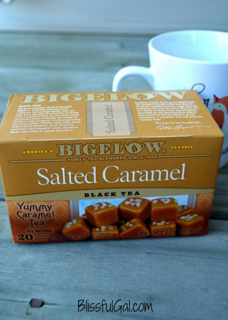 Salted caramel flavored tea is also another one of the best fall teas!