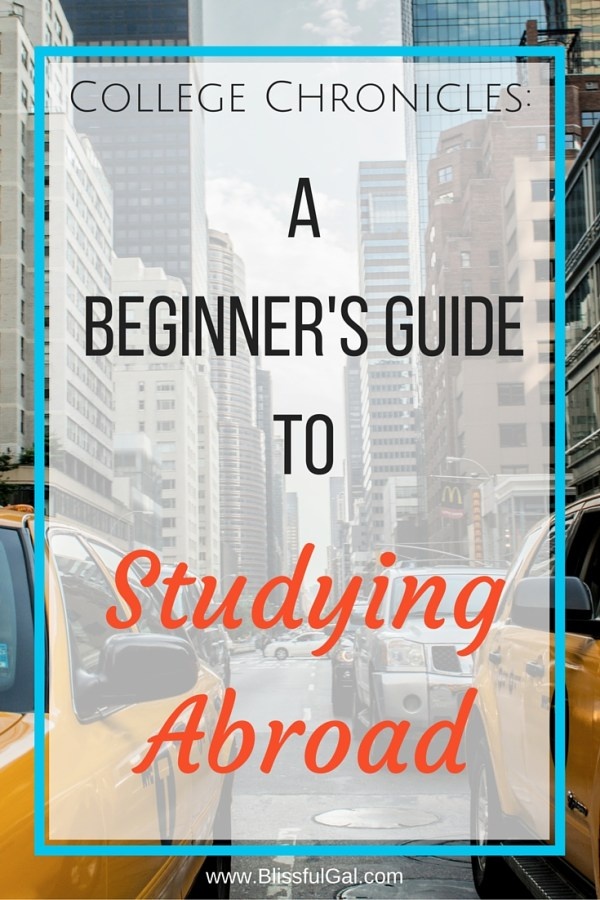 A Beginner's Guide to Studying Abroad - Make the most out of your time in college and take the time to study abroad! There are so many benefits, but do you know where to begin? This post will help you get started!
