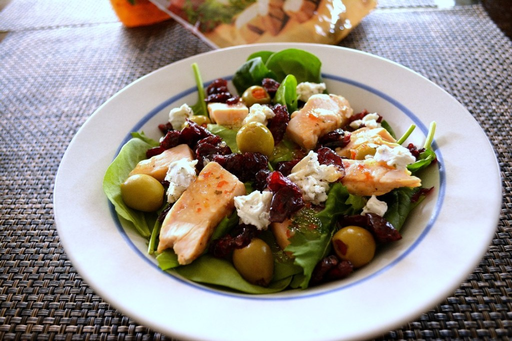 Quick and Easy Cranberry and Goat Cheese Salad - Getting and staying healthy doesn't have to be boring by eating bland foods. I love eating salads for lunch because I can add a variety of ingredients to make my meals more exciting, but still remain inside my diet. Adding dried cranberries also satisfies my sweet tooth!