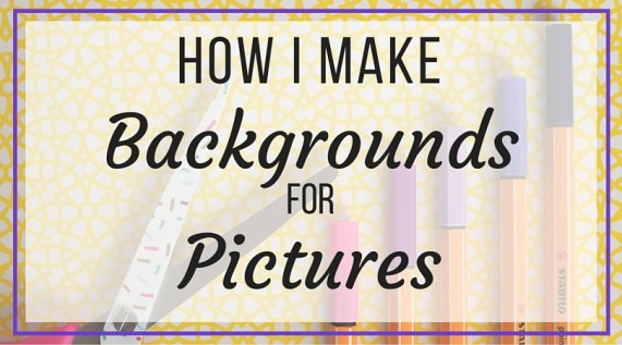 How to Make Backgrounds for Pictures - Creating attention-grabbing images for social media or blog posts is essential for turning first-time readers into long-time followers. People are visual, so when a picture is the first thing their eyes go to, you need to make sure they like it enough to stick around. I'm showing you several DIY background tricks that I have been using lately that have made a huge difference in my photography game!