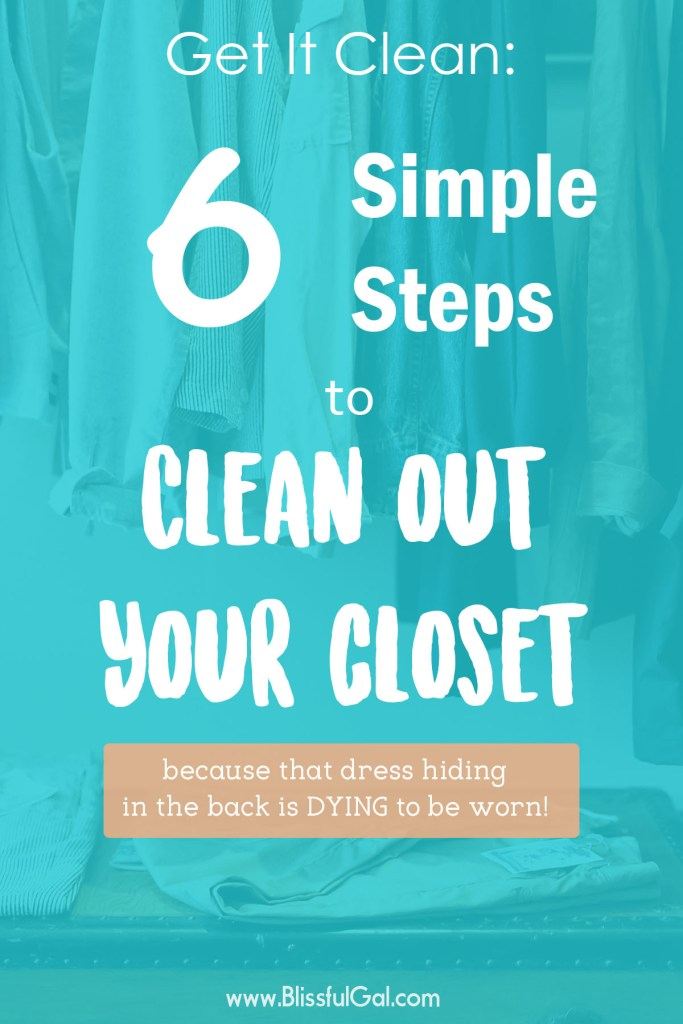 Tips to Clean Your Closet Out- Cleaning my closet out each season, or a couple times a year, really helps me to only keep my favorites. Although it can be difficult to part with a clothing item, I'm sharing 5 questions that you need to ask when you clean out your closet