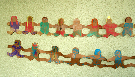 Blissfully Domestic's gingerbread garland