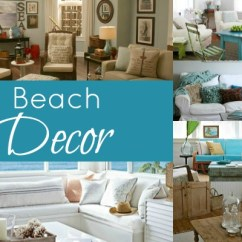 Beach Themed Living Room Decor White Furniture Cheap Beached Blissfully Domestic Decorating A Home With Beachlike