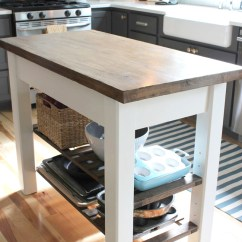 Diy Rolling Kitchen Island Furniture 8 Islands For Every Budget And Ability Blissfully Domestic Make Your Own Distressed
