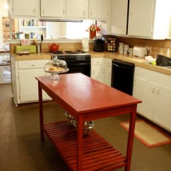 Cheap Kitchen Islands Amazon Faucets 8 Diy For Every Budget And Ability Blissfully Domestic Red Slatted Bottom Island