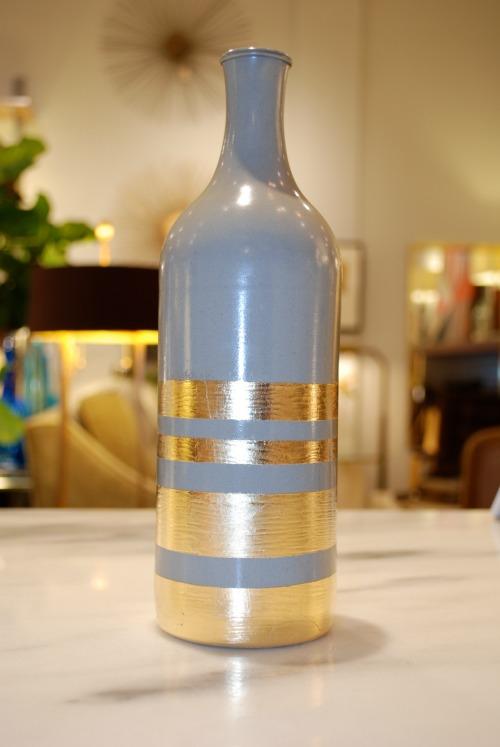 Home Decor DIY Gold Leaf Bottles Blissfully Domestic