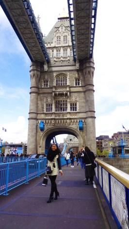 On the Tower Bridge.