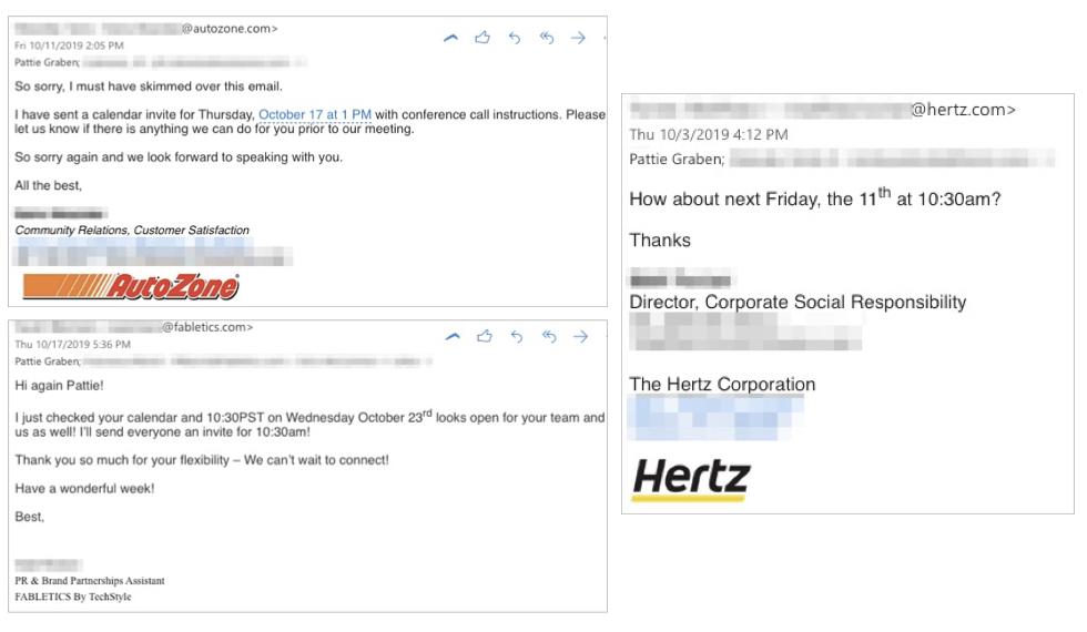 Nonprofit Email Responses 1