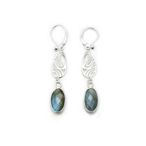 Artisan Earrings | Labradorite Filigree Silver Earrings
