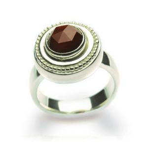 Artisan Ring | Granulated Garnet Dinner Ring
