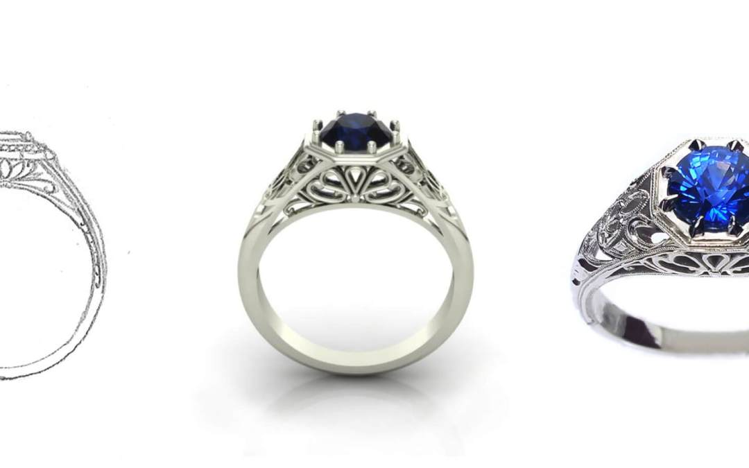 Custom Engagement Ring   Close Collaboration Is Key To Success