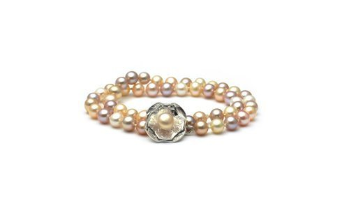 Pastel Freshwater Pearl Blossom Bracelet