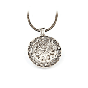 Granulated Medallion in Silver