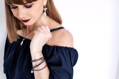 Iolite Multi Strand bracelet