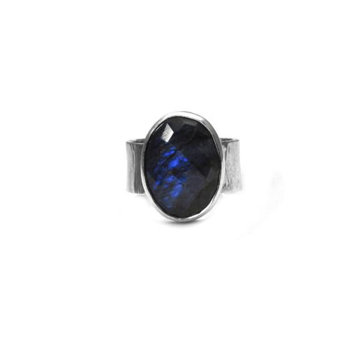 Hammered Labradorite ring