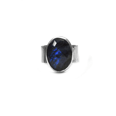 Hammered Labradorite ring