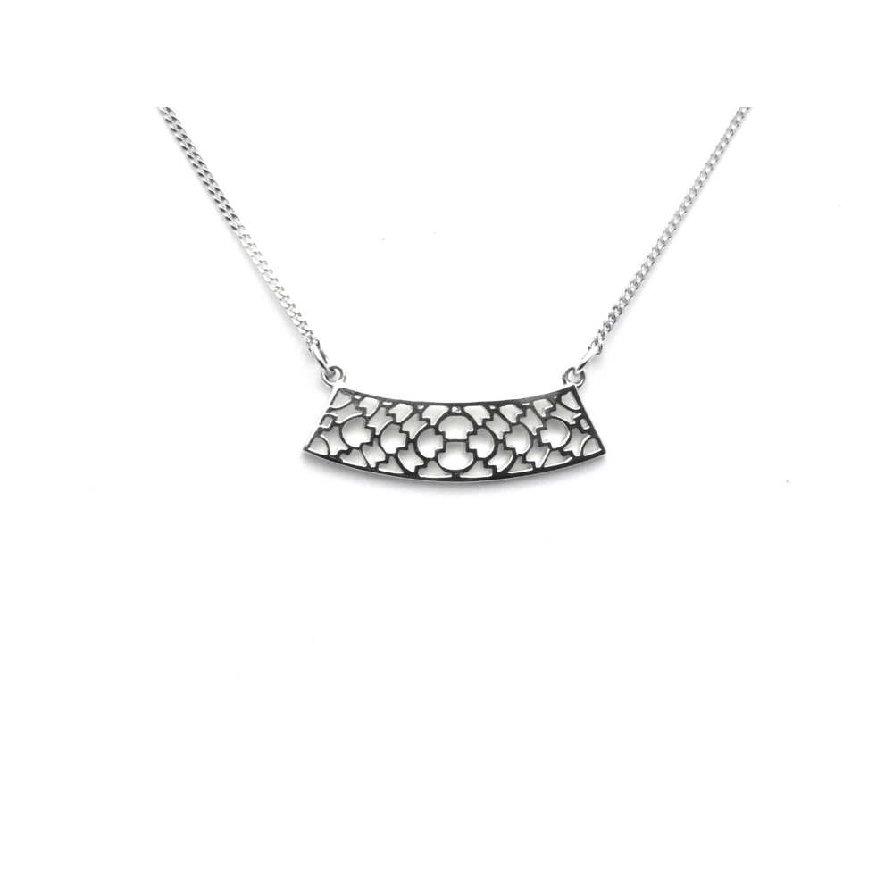 Sterling Lattice Pendant Sterling Silver