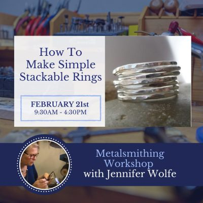 Introduction to Metalsmithing - How to make simple stackable rings
