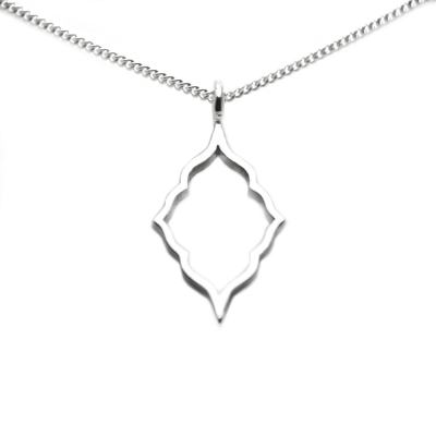 Sterling Silver Moroccan Silhouette Pendant