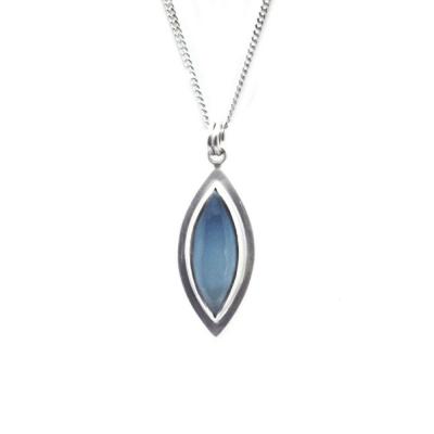 Blue Chalcedony Marquis Pendant