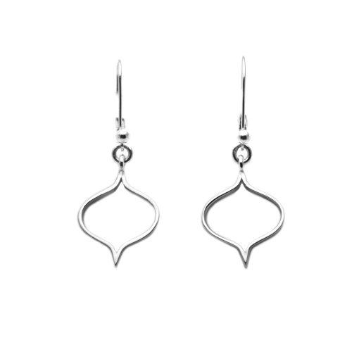 Sterling Silver Saxon Silhouette Earrings