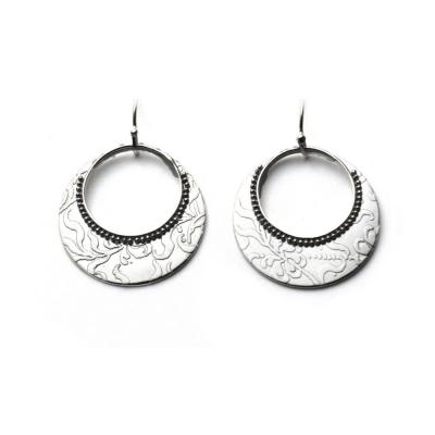 Granulated Floral Earrings