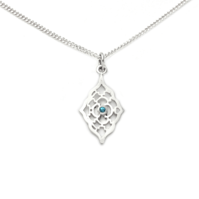 Moroccan Pendant with Blue Topaz