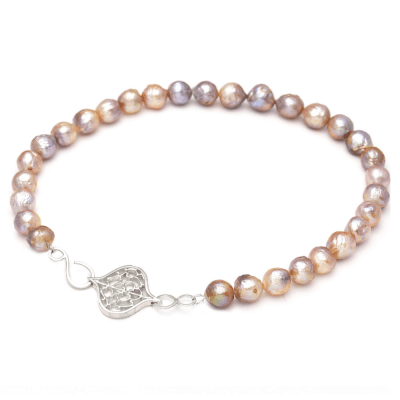 Saxon Orb Clasp on Baroque Kasumiga Pearl Necklace