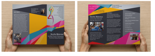 Trifold brochure for Personal Trainer