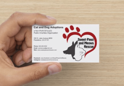 Business Card for Animal Rescue Non-profit