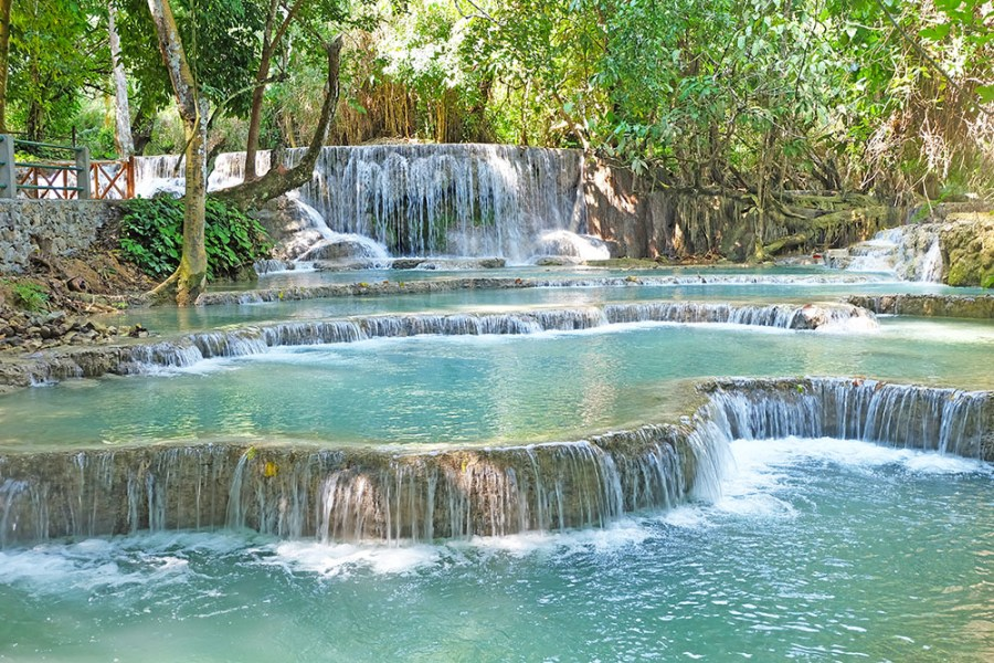 Kuang Si Falls - one of the top tourist attractions in Laos