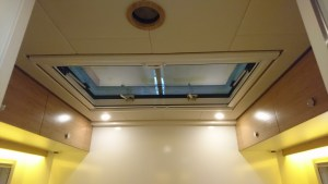 The hatch to roof terrace (from our 15-foot Bliss Mobil expedition camper unit).