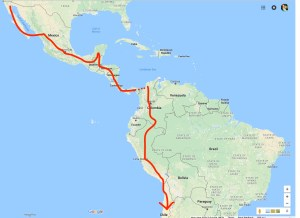 Adventure part 2. Mexico, Central and South America.