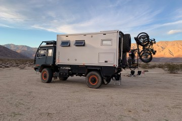 LMTV Bliss Mobil in the desert