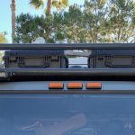 Pelican storages boxes on cab roof rack
