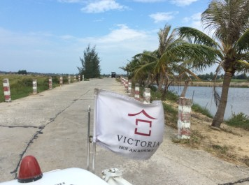 Victoria Hoi An Flag On The Open Road