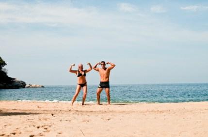 Beach posing