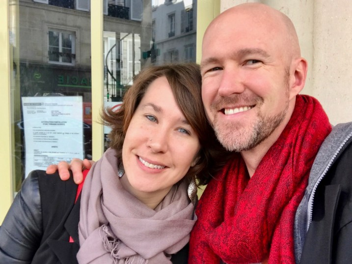 Curtiss and Ashley enjoy Paris brunch.