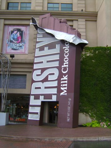 Hershey's Chocolate World entrance photo by http://www.panoramio.com/photo/26447634